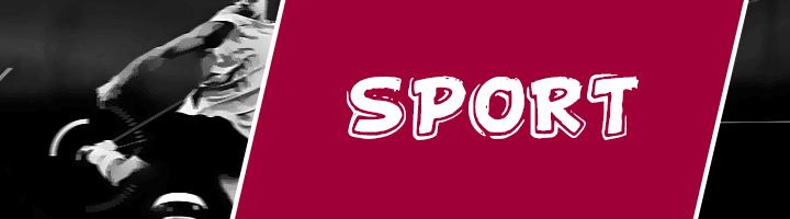 Rubrica di sport giornale tablo
